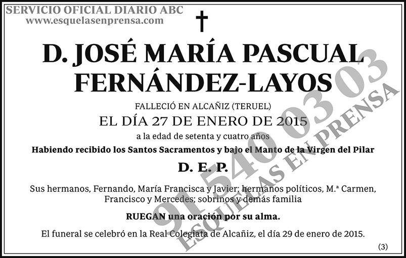 José María Pascual Fernández-Layos